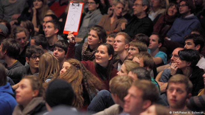 Audience at Science Slam 2012, Karlsruhe (Photo: SWR/Peter A. Schmidt)