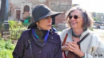 Irene and Helen Silberblatt, relatives of Paul Celan and Selma Meerbaum-Eisinger, September 2012