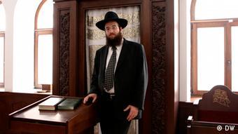 Rabbi Mendel Glizenstein, einer der beiden Czernowitzer Rabbiner (Foto: DW/Birgit Görtz)