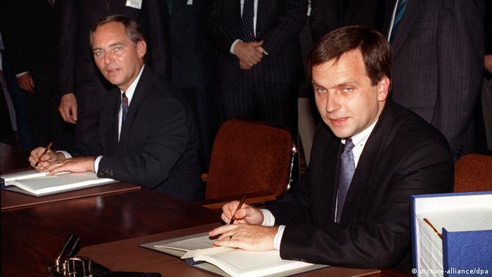 Wolfgang Schäuble Günther Krause Einigungsvertrag DDR BRD