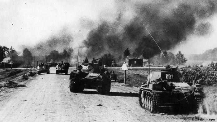 Tanques de guerra em ação