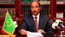 epa03432051 (FILE) A file picture dated 16 April 2009 shows Mauritanian General President Mohamed Ould Abdel Aziz speaking during an announcement at the presidential office in Nouakchott, Mauritania, 16 April 2009. According to media reports on 13 October 2012, the President of Mauritania, Mohamed Ould Abdel Aziz, was shot and wounded. He is currently being treated in a military hospital in the Mauritanian capital Nouakchott. EPA/AHMED El HADJ
