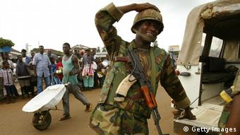 West African troops in Liberia Photo: Spencer Platt/Getty Images