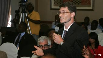 Mike Gonzales, head of political and economic section at the US embassy in Zimbabwe. Photo, Columbus Mavhunga
