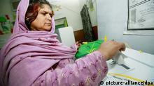 Pakistan Frau Wahlen