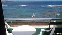 Azul do Oceano Atlântico a partir de Gran Canaria