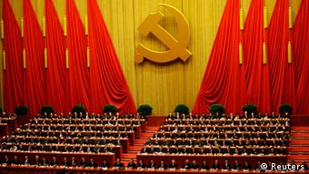 Delegates attend the closing session of 18th National Congress of the Communist Party of China at the Great Hall of the People in Beijing, November 14, 2012. REUTERS/Jason Lee (CHINA - Tags: POLITICS)