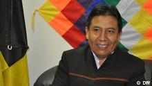 David Choquehuanca, Aussenminister Boliviens, Brüssel, 13.11.2012, Bild: DW/Banchón