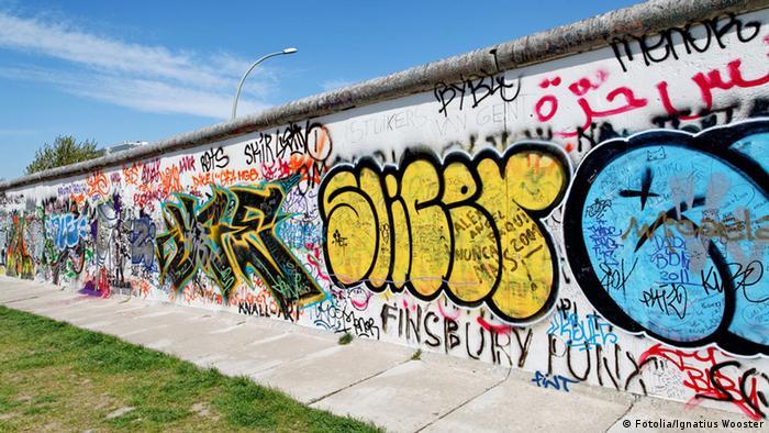 Graffitis auf der Berliner Mauer