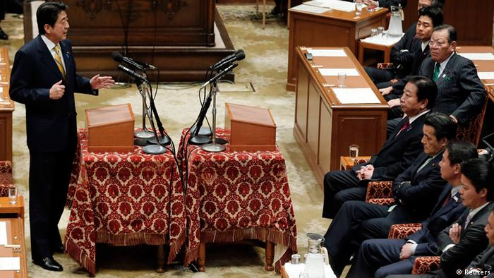 A parliamentary debate in Tokyo REUTERS/Kim Kyung-Hoon (JAPAN - Tags: POLITICS ELECTIONS)