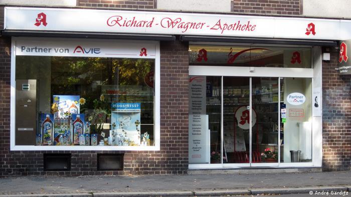 Wagner-Orte: Richard-Wagner-Apotheke in Leipzig