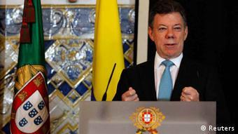 Rais wa Colombia, Juan Manuel Santos.