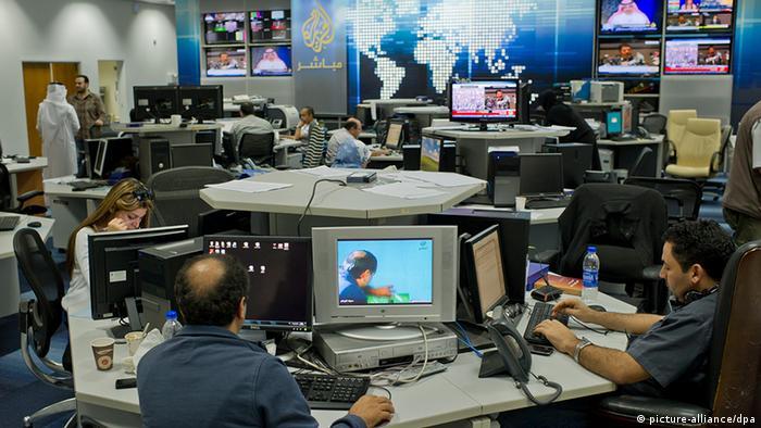 Katar Presse Newsroom beim Nachrichtensender Al Dschasira in Doha