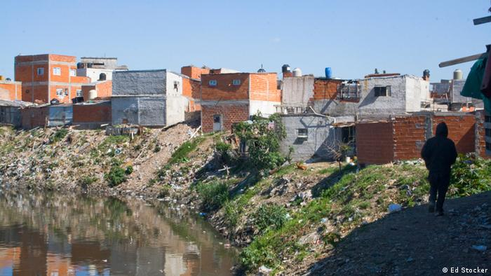 A shantytown along the Riachuelo in Buenos Aires, Argentina