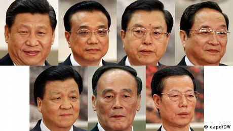 China Kombo neue Mitglieder vom Politbüro (dapd/DW)