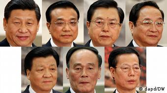 China Kombo neue Mitglieder vom Politbüro