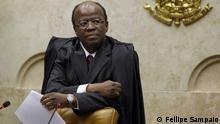 Joaquim Barbosa, der am 22.11. als Präsident des brasilianischen Obersten Bundesgerichts vereidigt wird (August 2012); Copyright: Fellipe Sampaio***via Mariana Santos