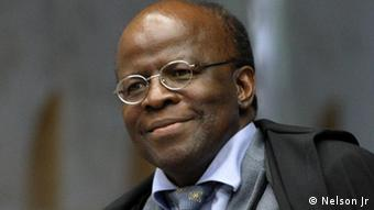 Joaquim Barbosa, president of Brazil's Supreme Federal Court. Copyright: Nelson Jr. via Mariana Santos