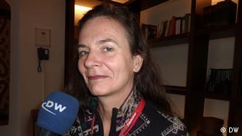 Die Regisseurin Threes Anna im Gespräch mit der DW beim Filmfestival, Mannheim/Heidelberg (Foto: Jochen Kürten/DW)