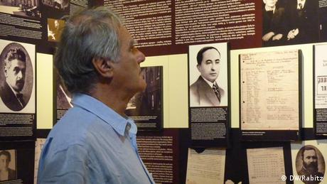 Historian Julius Schoeps in the Vilnius Jewish Museum.