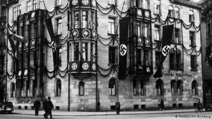 Nuremberg Nazis with Flag
