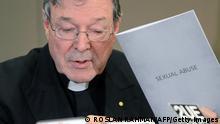 Australien Katholische Kirche Kardinal George Pell zu Kindermissbrauch