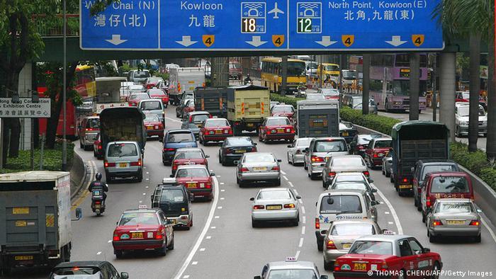 China Hongkong Verkehr Stau Verkehrsstau