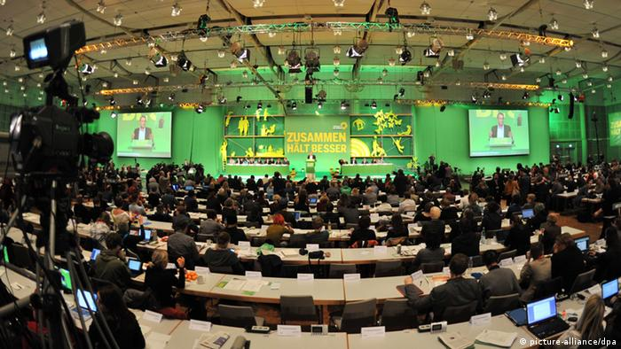 A photo of the 2012 Green Party conference in Hanover. Foto: Emily Wabitsch/dpa