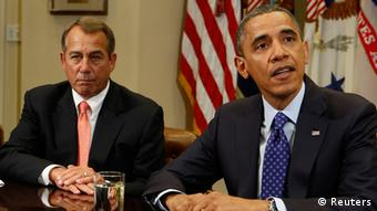 President Obama and Speaker of the House John Boehner. (Reuters/Larry Downing)