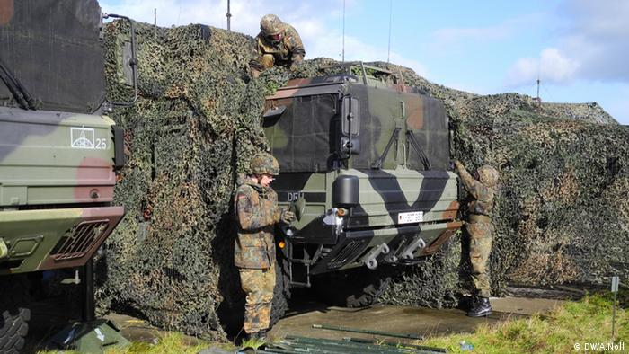 Troops cover a Patriot launcher Photo: Andreas Noll