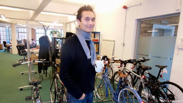 Mendeley CEO Victor Henning in his offices.(Coypright: Anja Kueppers)