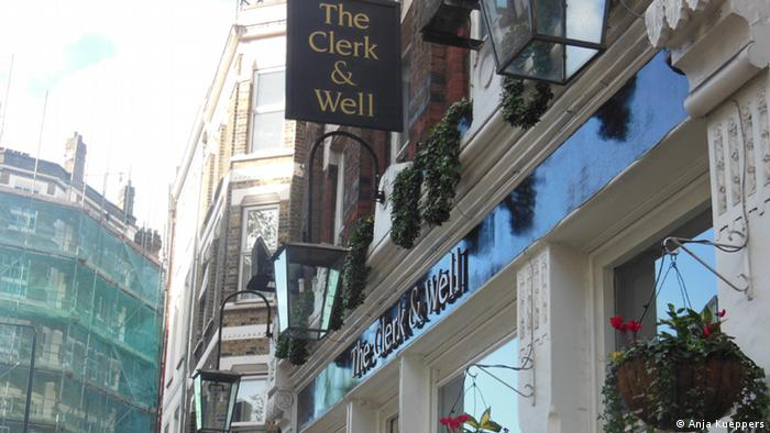 The Clerk & Well Pub is one of the pubs in Tech City, London . (Coypright: Anja Kueppers)