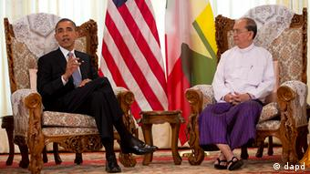 U.S. President Barack Obama meets with Myanmar's President Thein Sein
