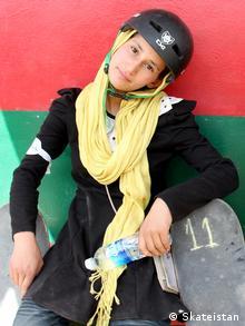 Khorshid, a skateboarding trainer who died Copyright: Skateistan Copyright: Skateistan zugeliefert von Kate Bowen
