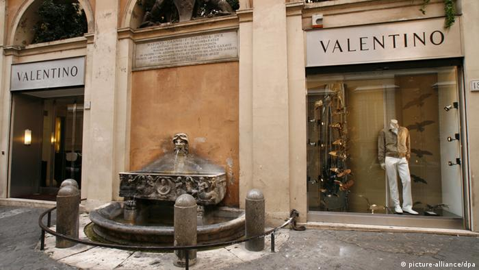 Valentino shop in Rome