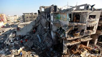 Destroyed buildings in Gaza (photo: REUTERS/Mohammed Salem)