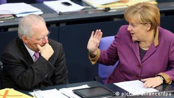 Ангела Меркель и ее министр финансов Вольфганг Шойбле