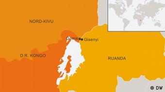 Karte Grenzgebiet Demokratische Republik Kongo Ruanda