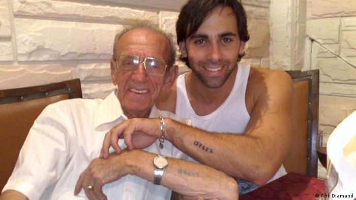 Arik Diamand and his grandfather Yosef Diamand in 2008