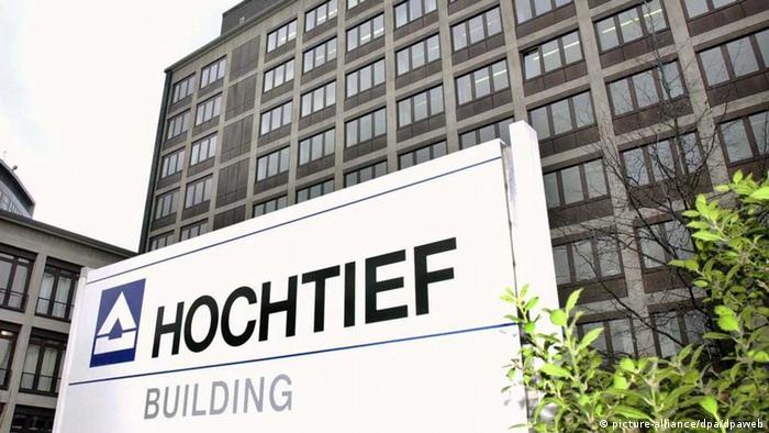 Die Zentrale des Baukonzerns Hochtief Building in Essen