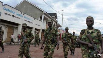 Rebellen der M23 bei ihrem Einzug in Goma (Foto: DW/ Simone Schlindwein)