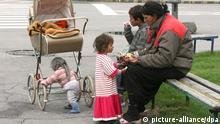 Roma Familie in Skopje Mazedonien