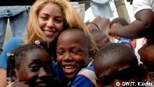 Sängerin Shakira bei Hilfsprojekt in Kolumbien