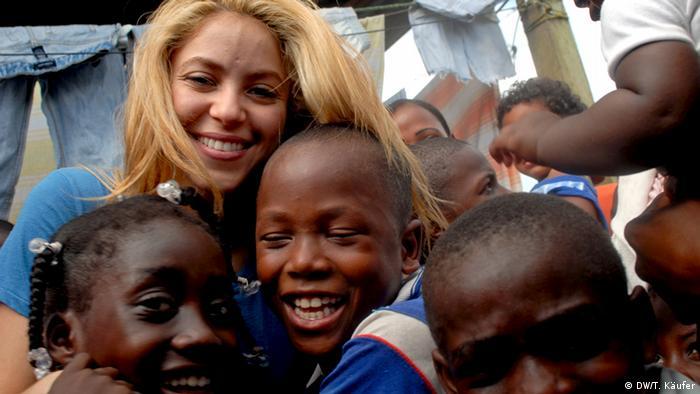 La cantante Shakira tiene una fundación en Colombia. Copyright: DW 2012, Fotograf: Tobias Käufer