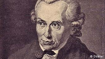 Ein Kupferstich von Immanuel Kant