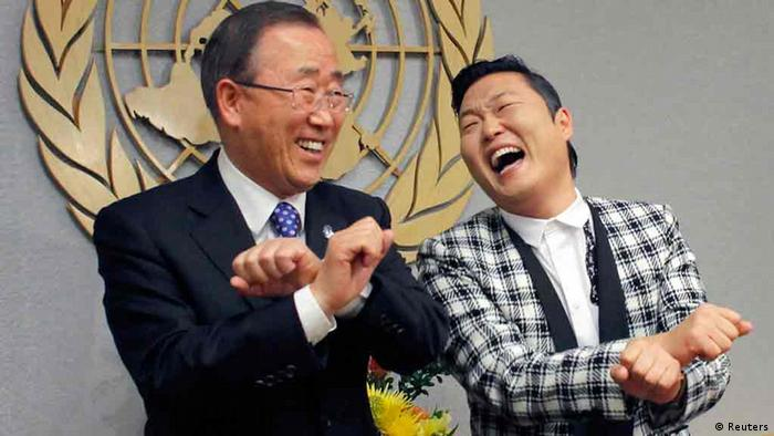 Ban Ki-moon and Psy (Copyrigth: Reuters)