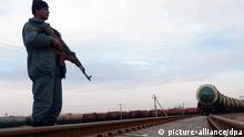Eisenbahnstrecke zwischen dem usbekischen Hairatan und Masar-i-Scharif