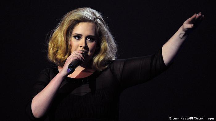 Sängerin Adele London Februar 2012