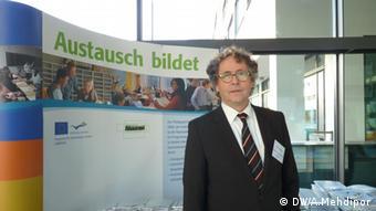 Gottfried Böttger, Leiter des Pädagogischen Austauschdienstes beim 60. Jubiläum in der Deutschen Welle (Foto: DW / Anahita Mehdipor)