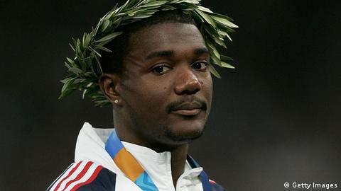 Läufer Justin Gatlin Athen Olypia 2004 (Getty Images)